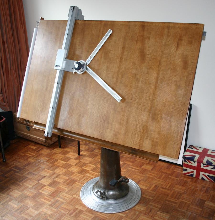 Industrial Vintage Drafting Table Nike A12