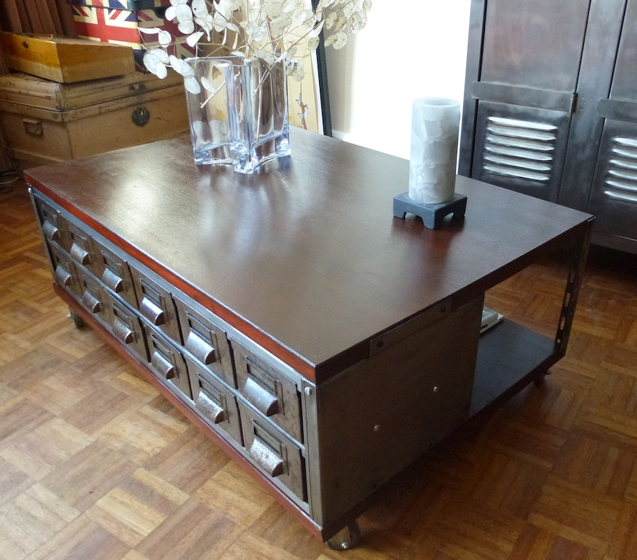 Industrial Vintage Coffee Table B2 La Boutique Vintage
