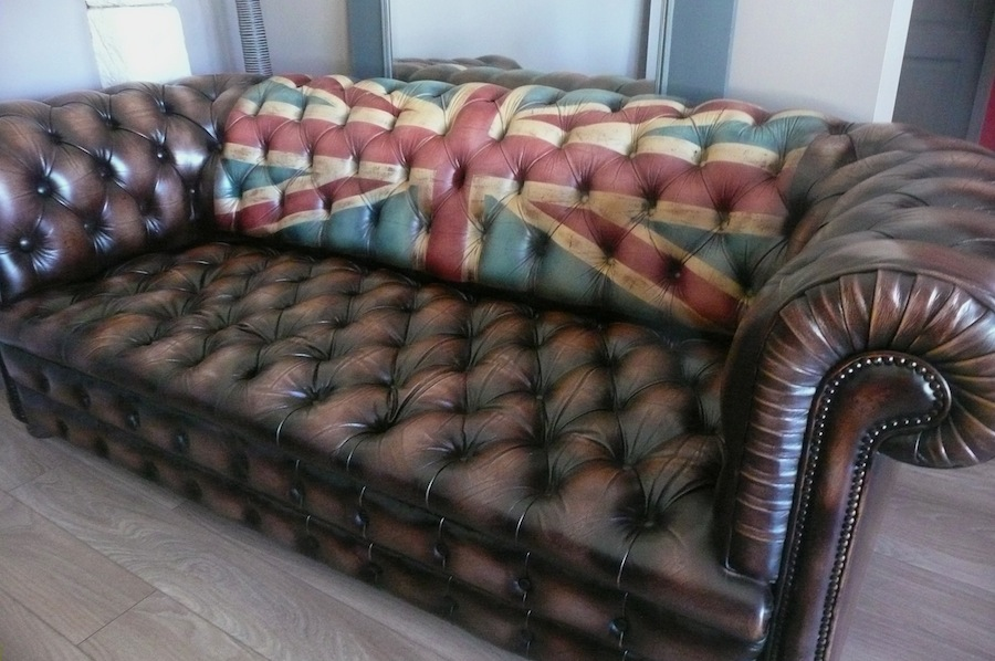 Vintage Chesterfield Sofa Union Jack A2 La Boutique Vintage