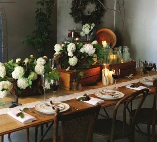 Vintage Chrismas Table Decoration
