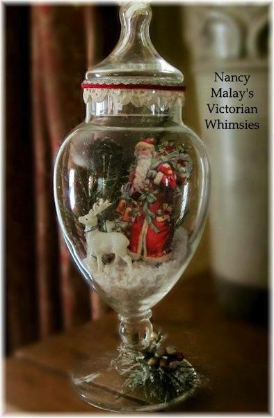 Vintage christmas table decorations la boutique vintage for Christmas glass jars